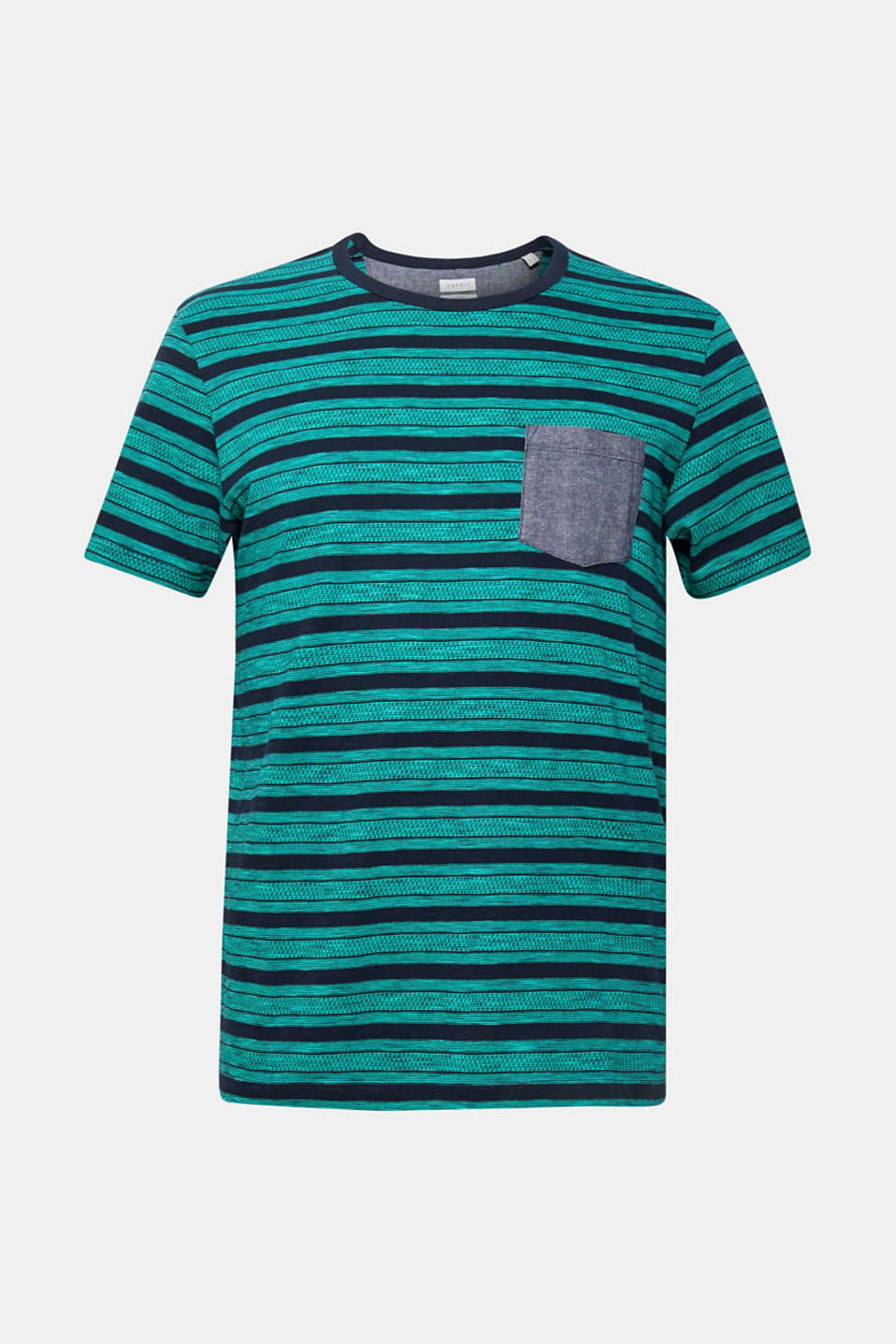 Jersey T-shirt with tribal stripes, 100% cotton, NAVY, detail image number 6