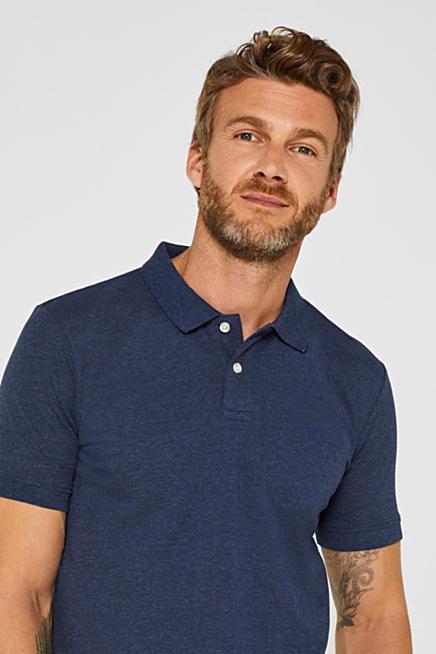 3a2cc0d727c029 Piqué polo shirt with organic cotton. Blue NAVY  Blue