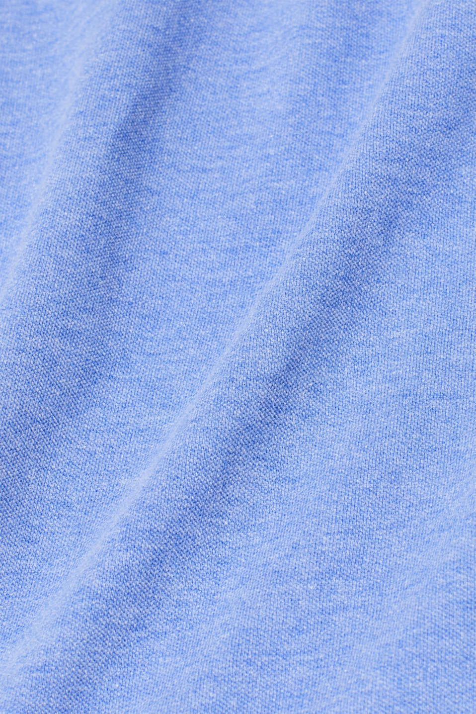 Piqué polo shirt with organic cotton, BLUE, detail image number 4