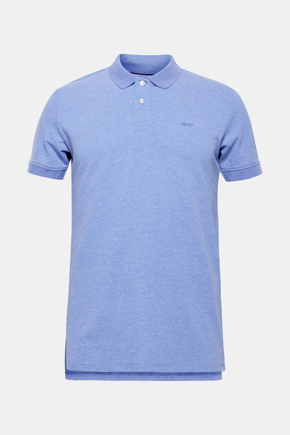Piqué polo shirt with organic cotton, BLUE, detail image number 6