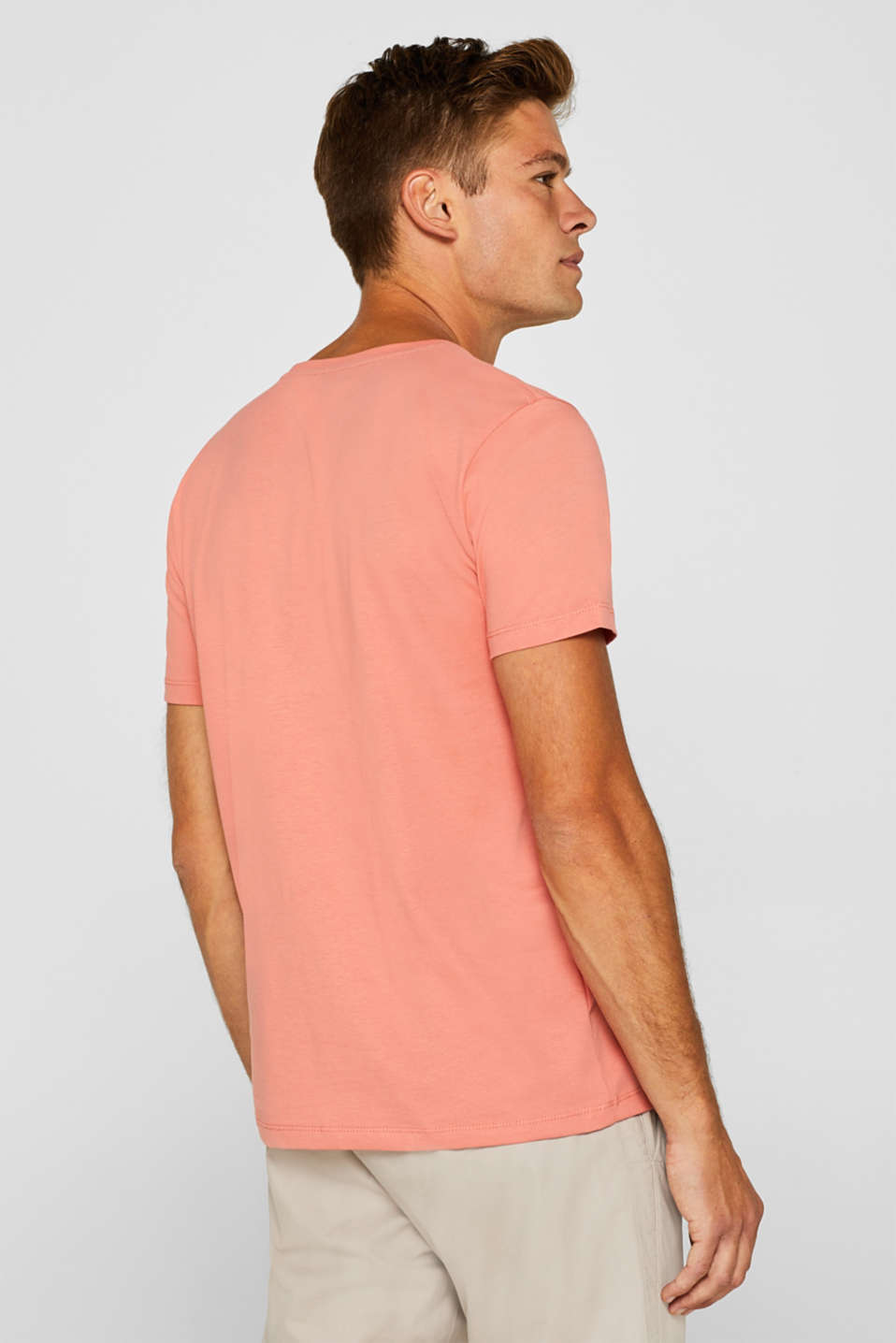 Jersey T-shirt in 100% cotton, SALMON, detail image number 3