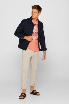 Jersey T-shirt in 100% cotton, SALMON, detail
