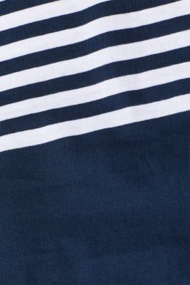 Jersey T-shirt with stripes, 100% cotton, NAVY, detail