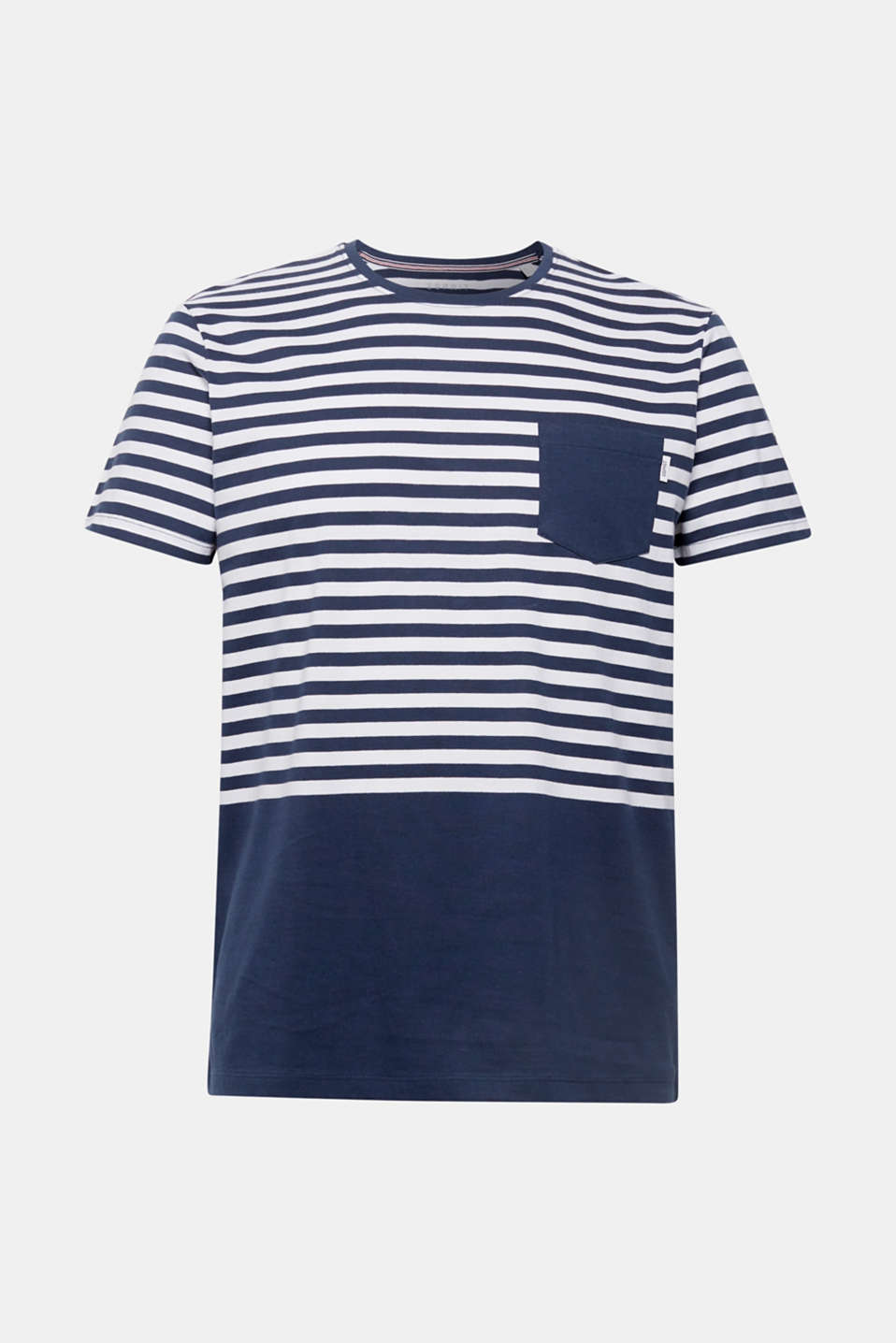 Jersey T-shirt with stripes, 100% cotton, NAVY, detail image number 5