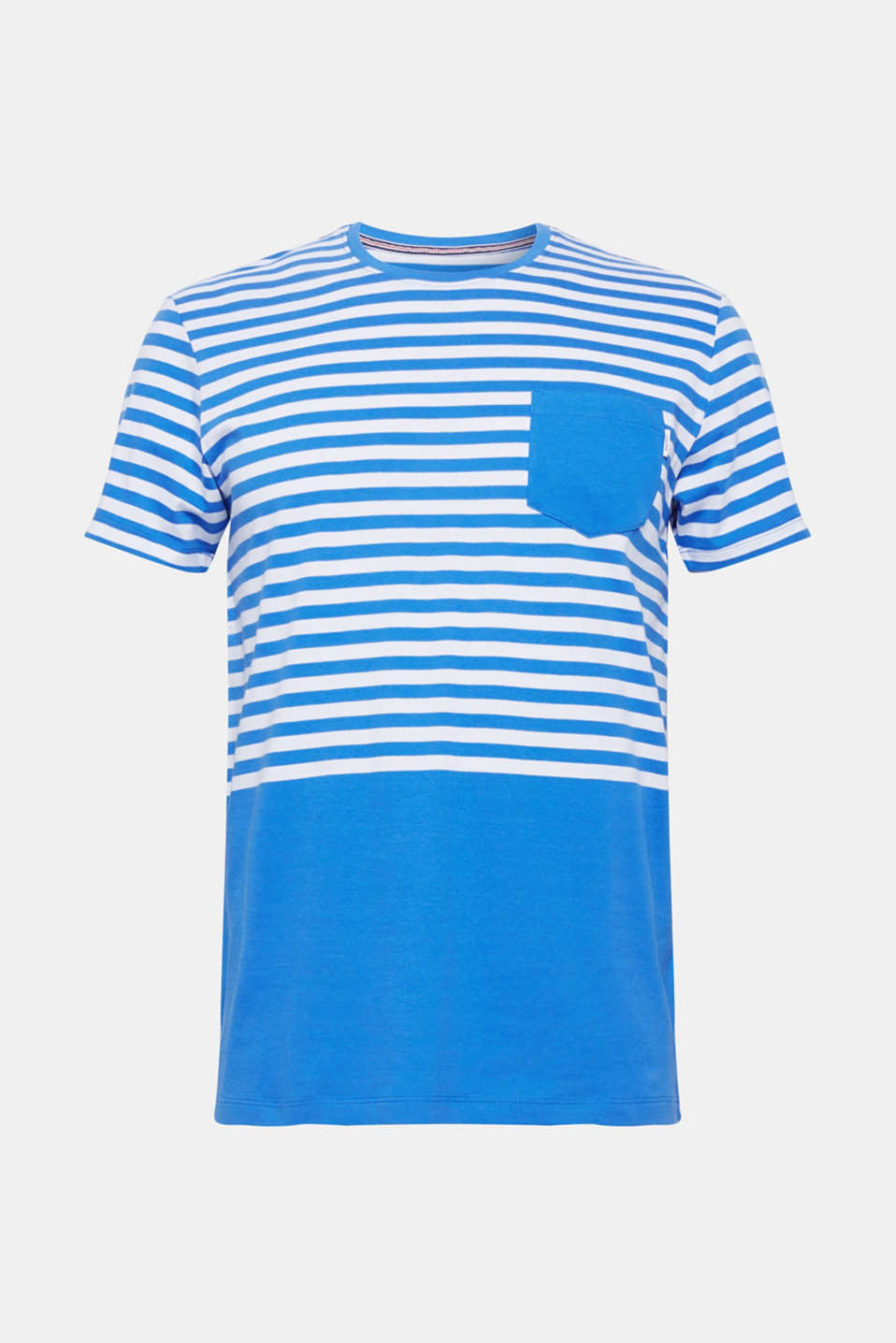 Jersey T-shirt with stripes, 100% cotton, BLUE, detail image number 4