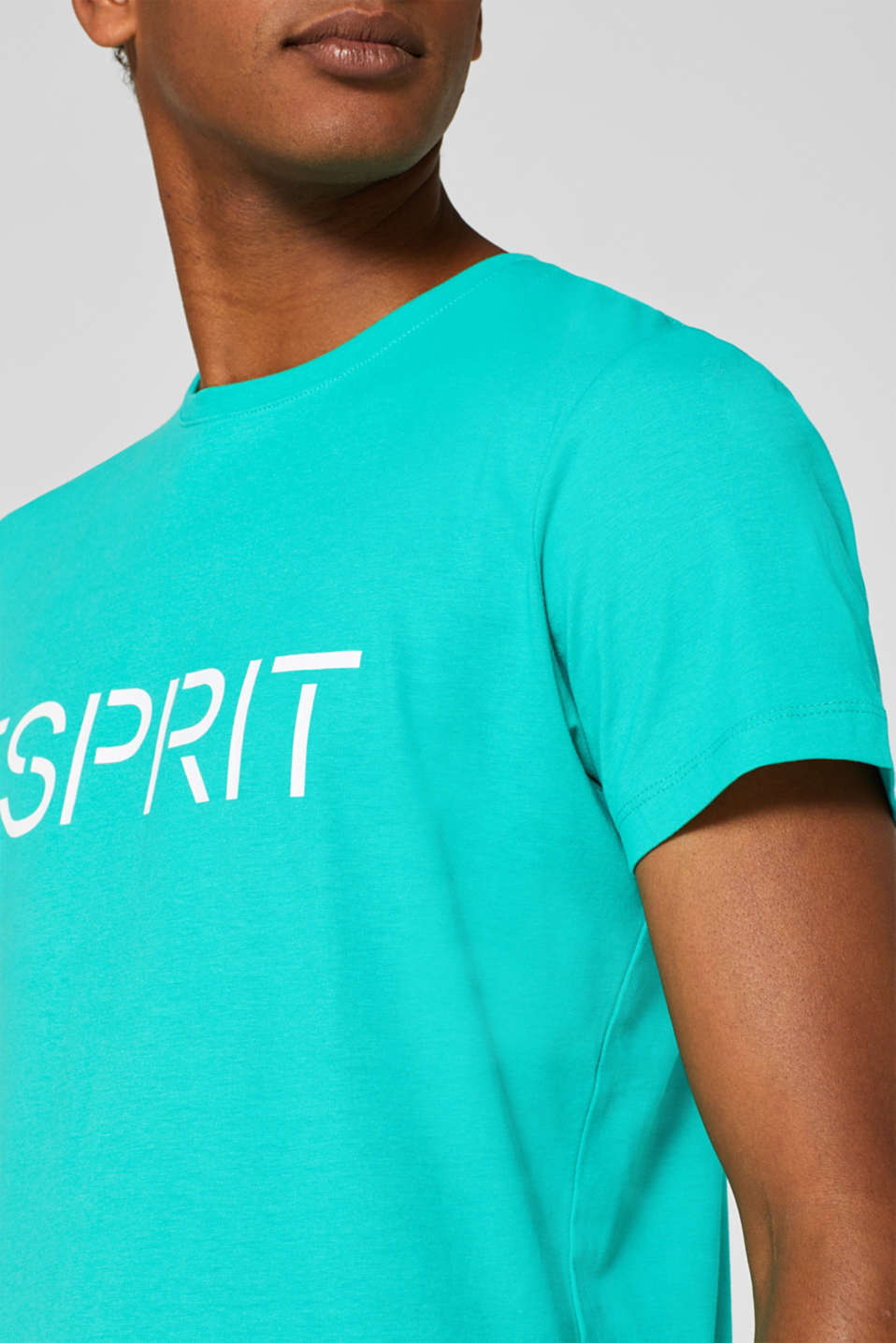 T-Shirts, AQUA GREEN, detail image number 1