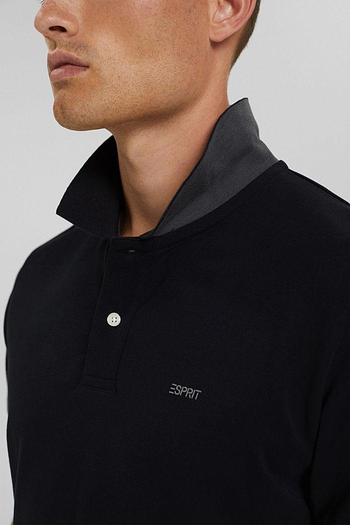 Koszulka polo w 100% z bawełny organicznej, BLACK, detail image number 1