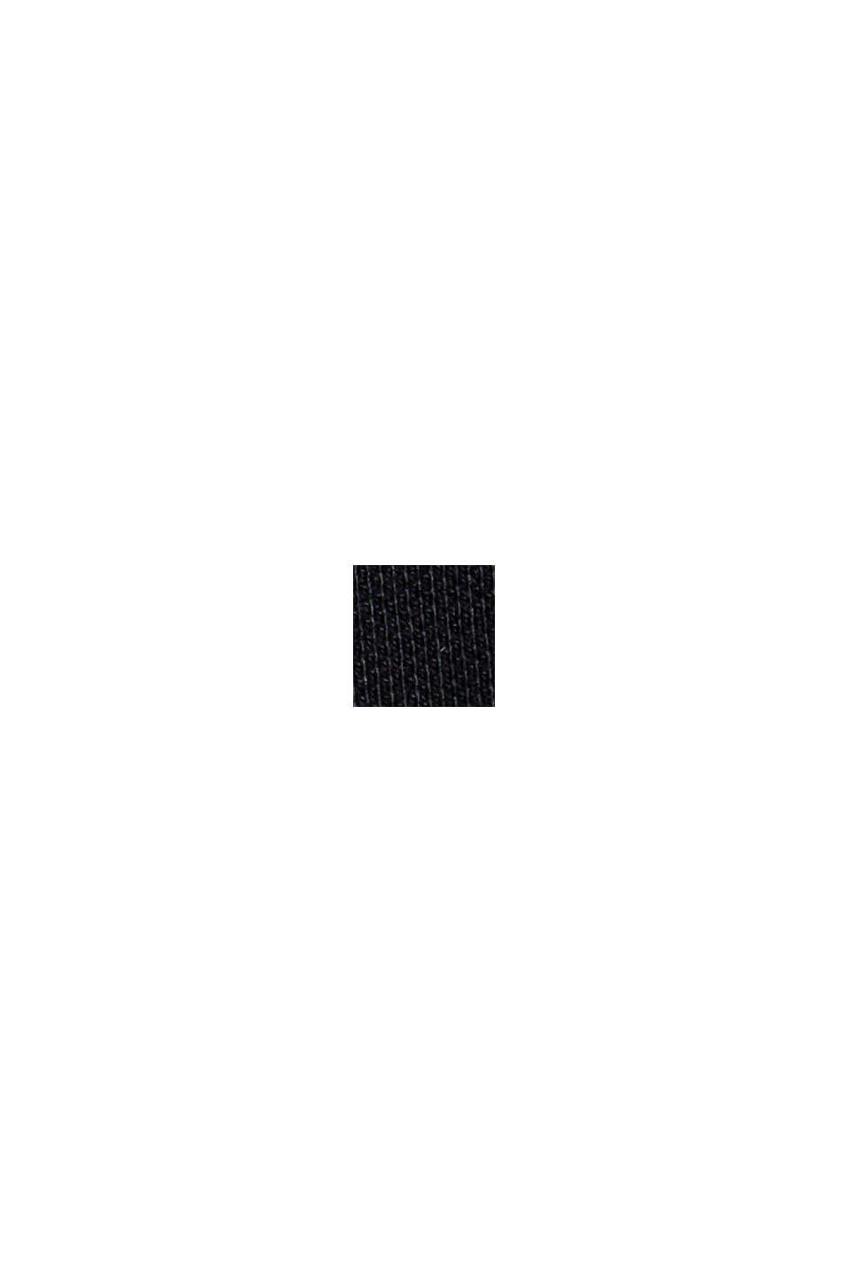 Chemise-polo en 100% coton biologique, BLACK, swatch
