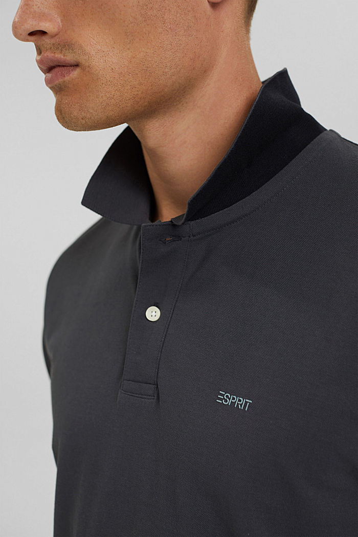 Polo-Hemd aus 100% Organic Cotton, ANTHRACITE, detail image number 1