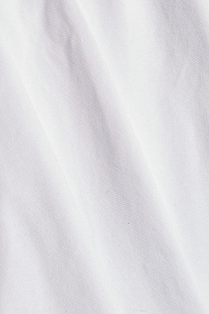 Chemise-polo en 100% coton biologique, WHITE, detail image number 4