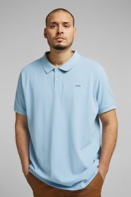 Polo shirt in 100% organic cotton, LIGHT BLUE, detail