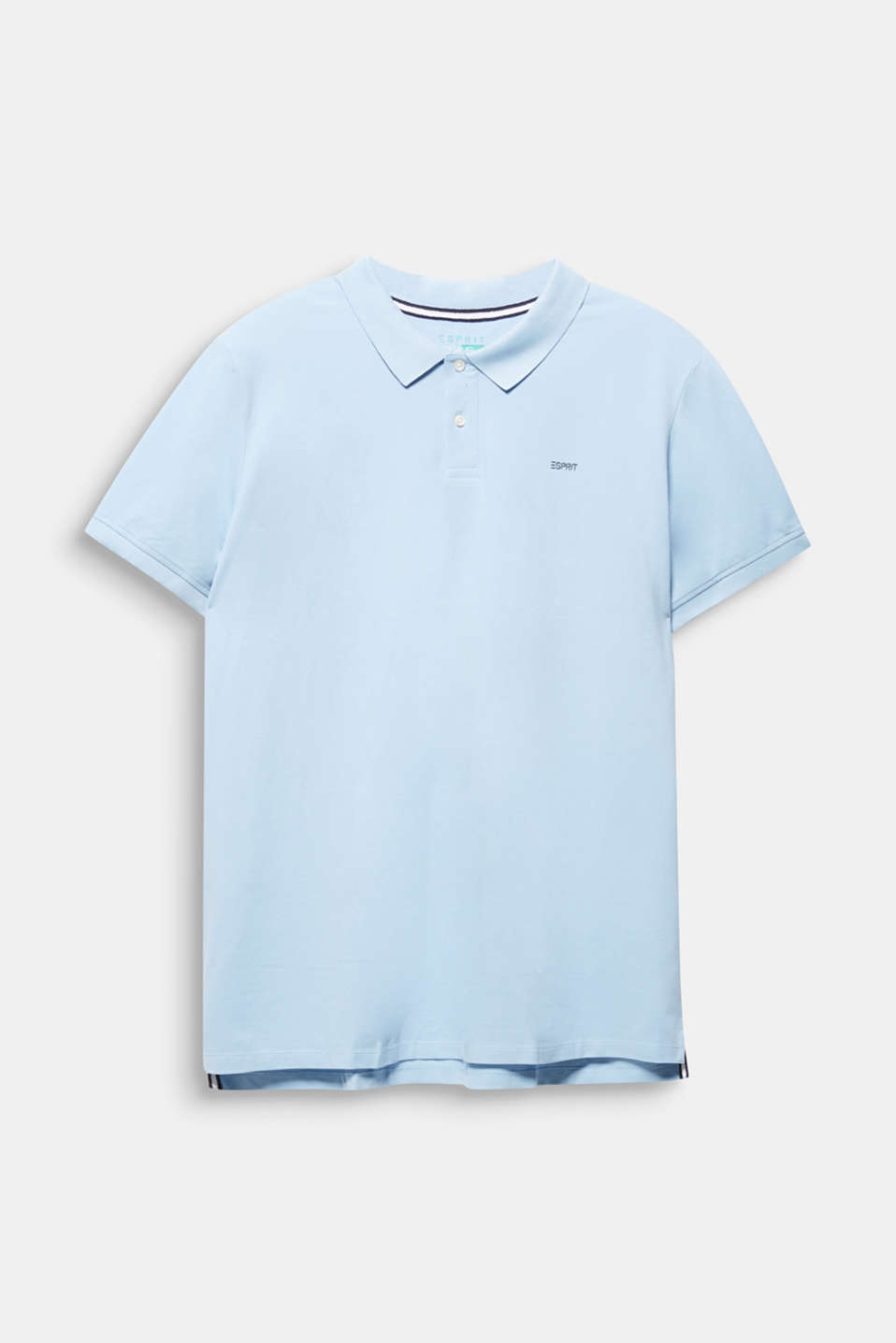 Polo shirt in 100% organic cotton, LIGHT BLUE, detail image number 1