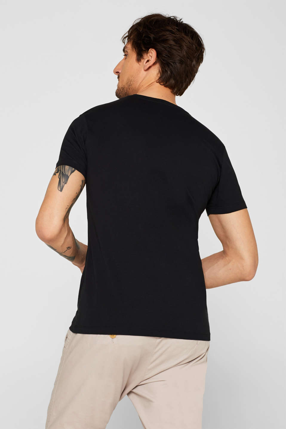 Double pack of T-shirts made of 100% cotton, BLACK, detail image number 3