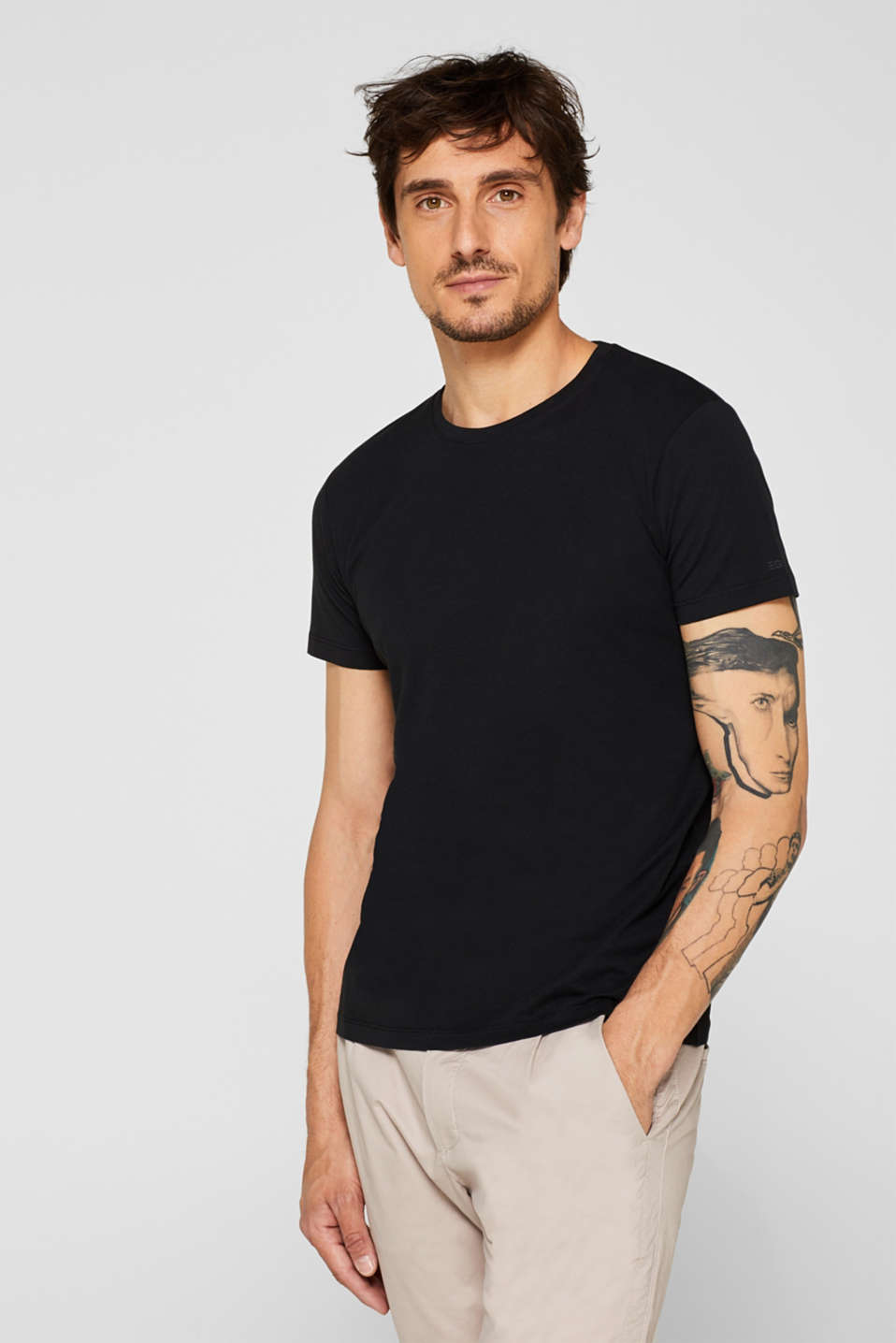 Double pack of T-shirts made of 100% cotton, BLACK, detail image number 4