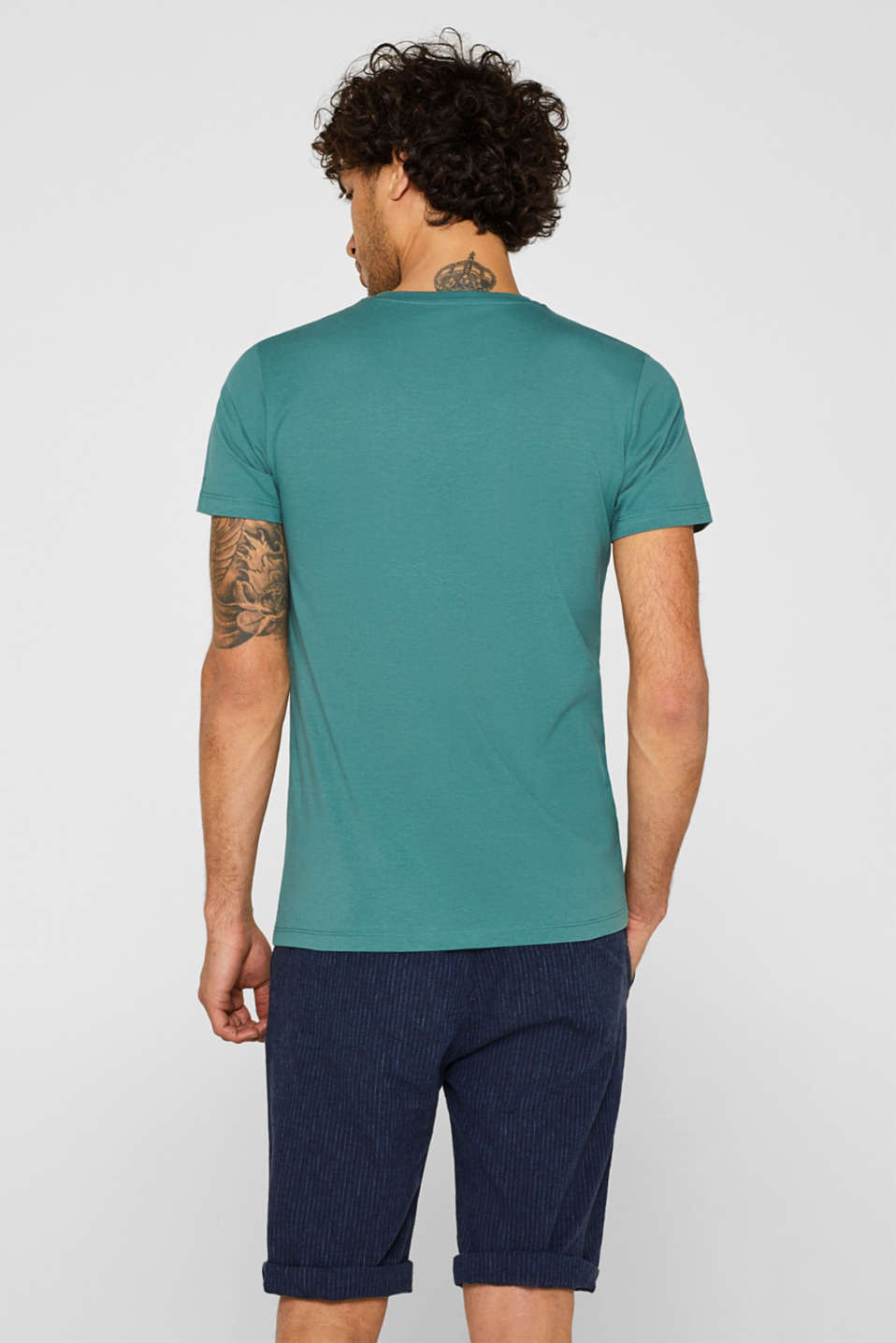 Double pack of T-shirts made of 100% cotton, DUSTY GREEN, detail image number 3