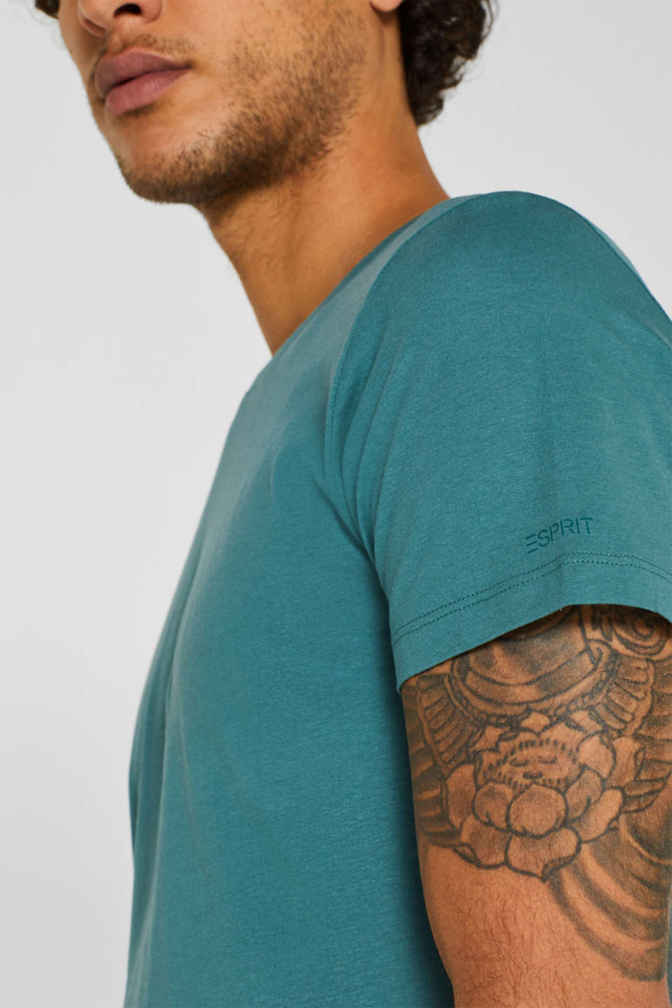 Double pack of T-shirts made of 100% cotton, DUSTY GREEN, detail image number 2