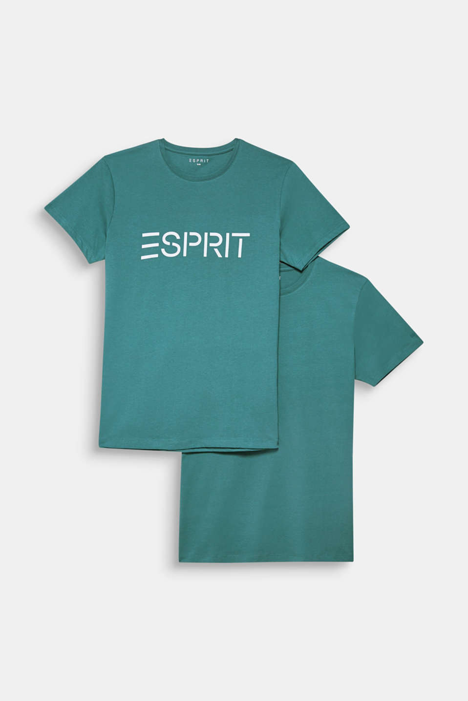 Double pack of T-shirts made of 100% cotton, DUSTY GREEN, detail image number 5