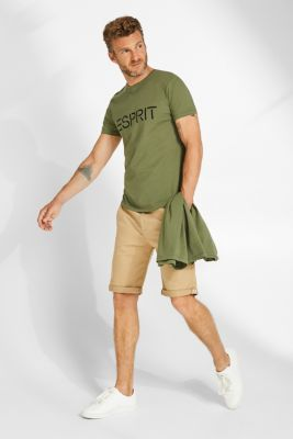 Double pack of T-shirts made of 100% cotton, KHAKI GREEN, detail