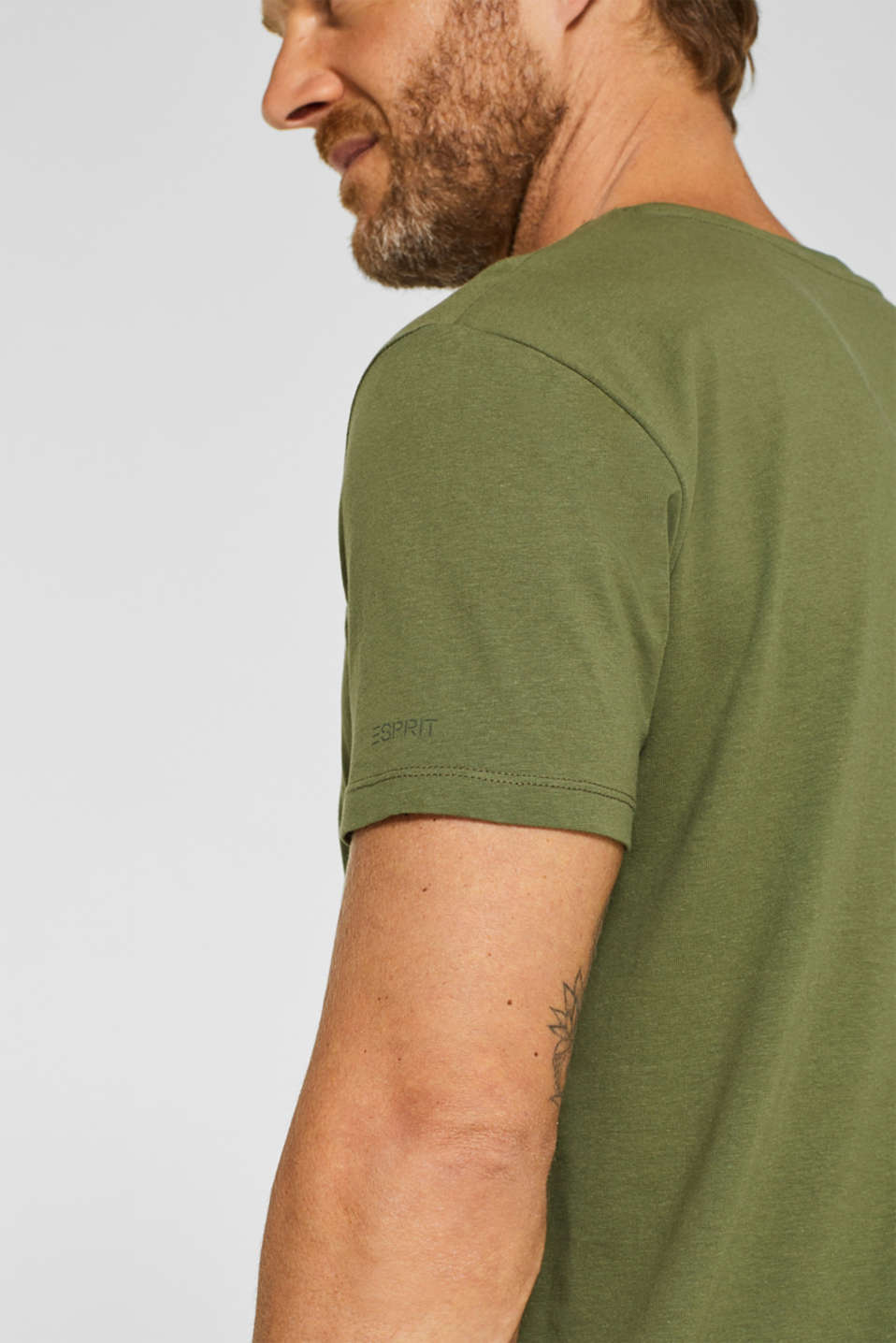 Double pack of T-shirts made of 100% cotton, KHAKI GREEN, detail image number 2