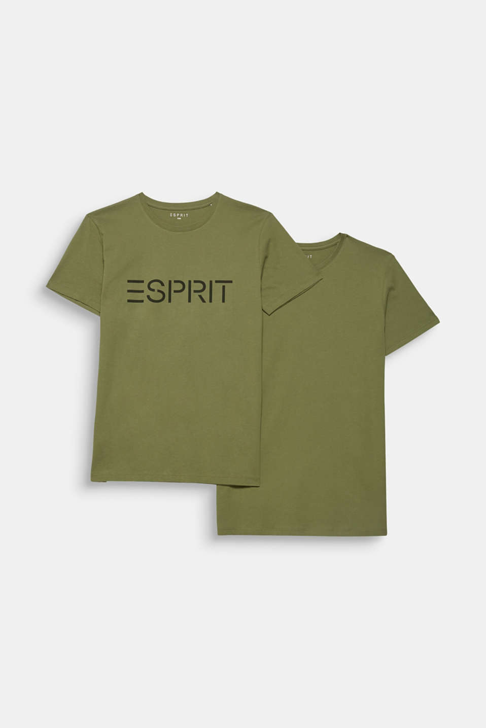 Double pack of T-shirts made of 100% cotton, KHAKI GREEN, detail image number 6