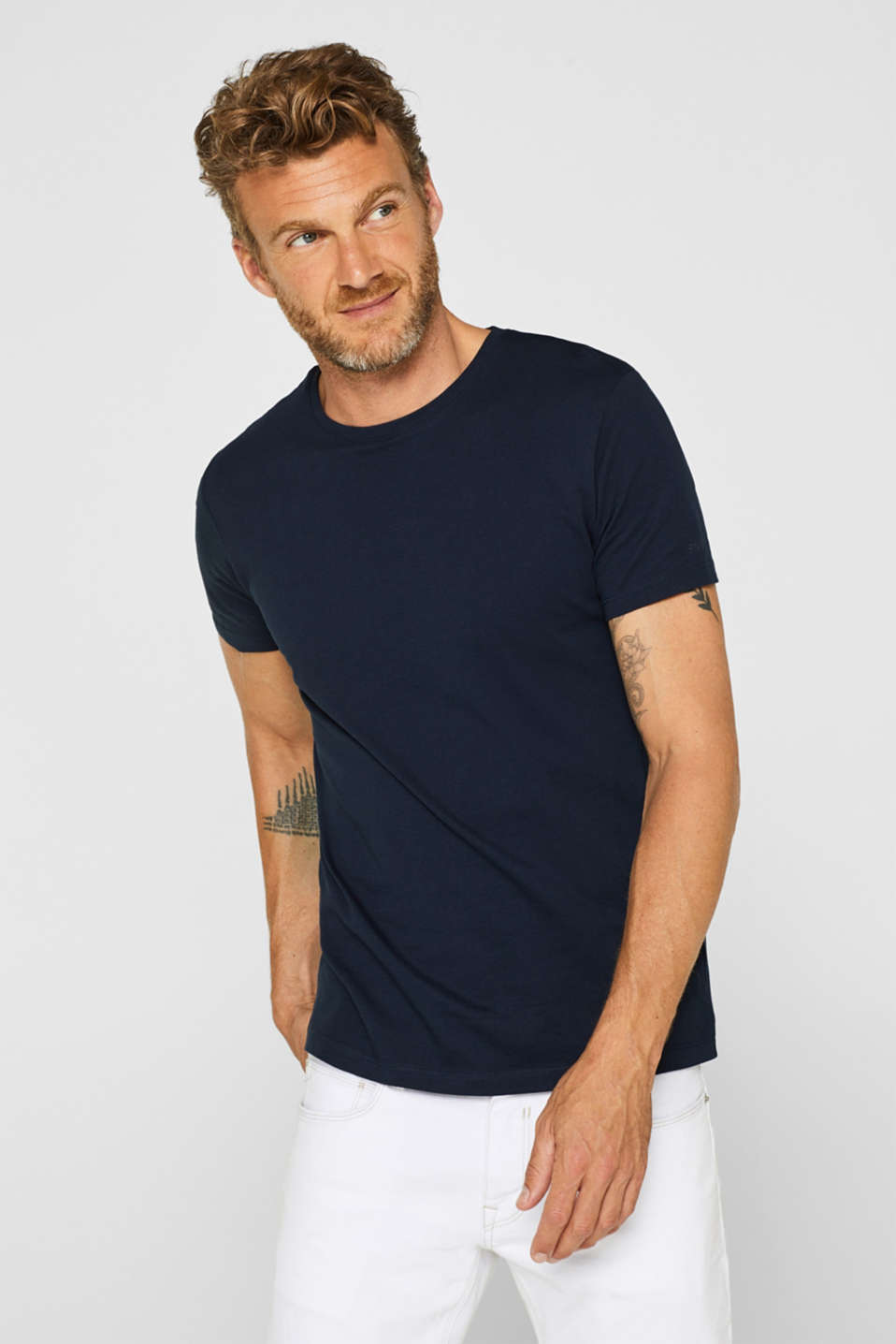 Double pack of T-shirts made of 100% cotton, NAVY, detail image number 3