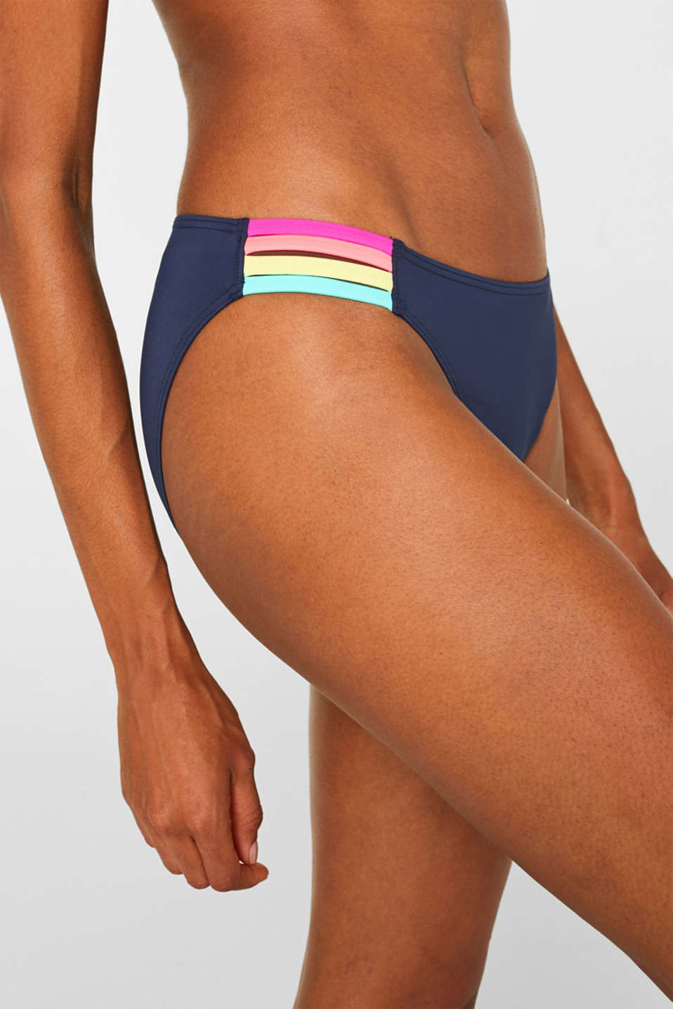 Midi briefs with neon details, NAVY, detail image number 1