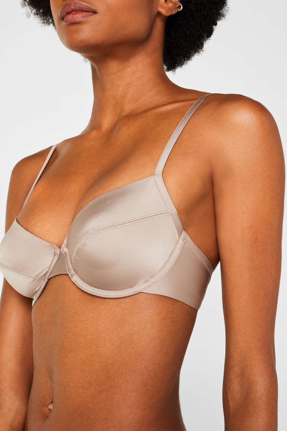 Bras with wire n/a, LIGHT TAUPE, detail image number 2