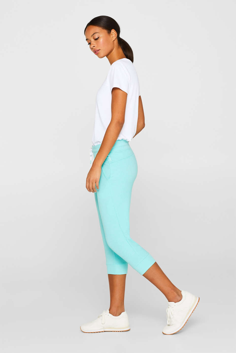 Esprit - Pantaloni capri in jersey stretch