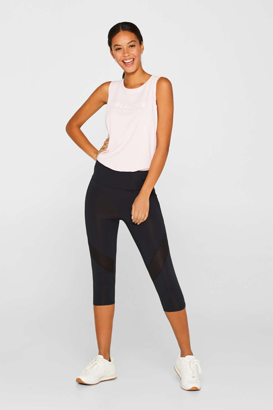 sale online where can i buy sold worldwide Esprit - Capri leggings with mesh inserts at our Online Shop