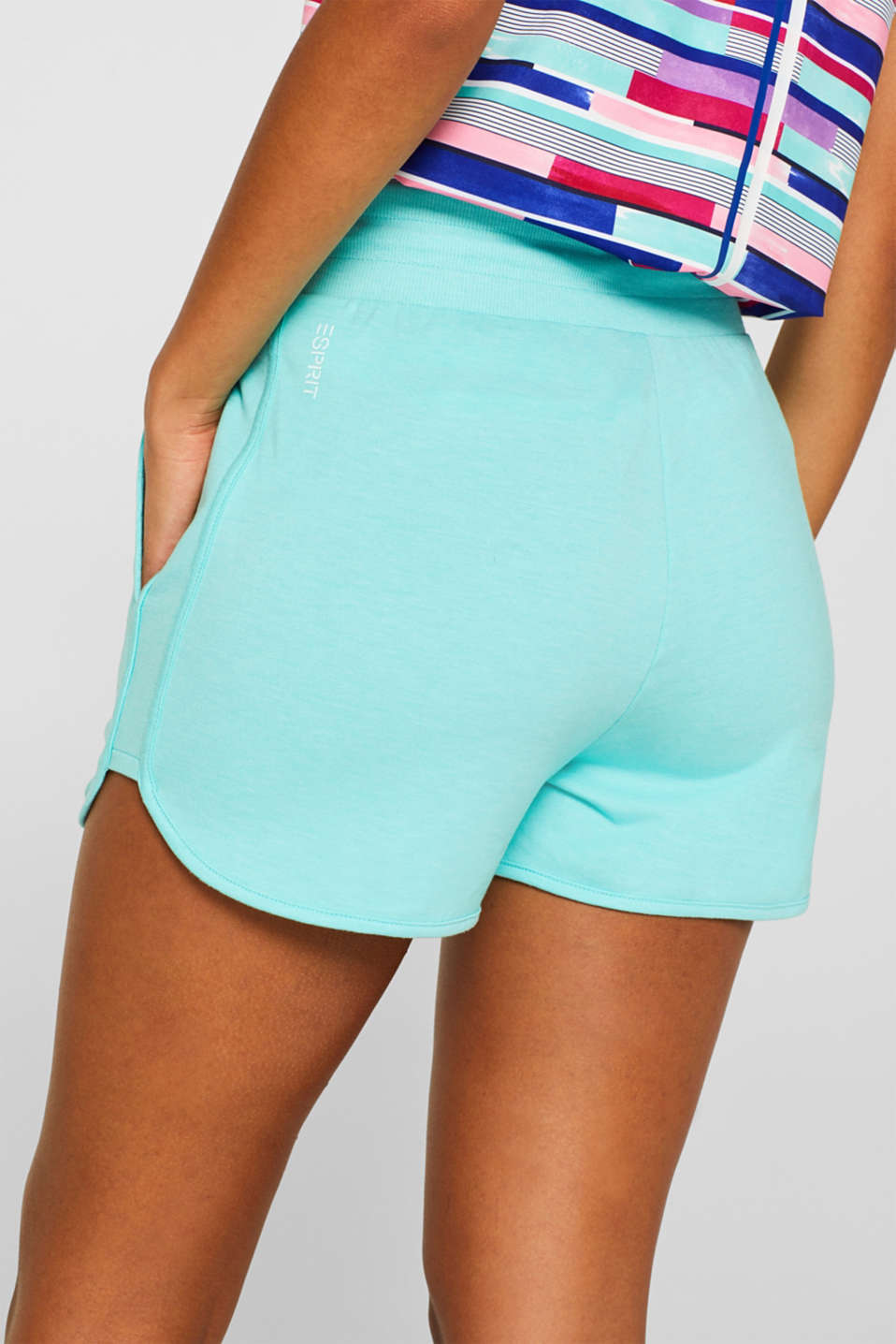 Shorts knitted, LIGHT AQUA GREEN 2, detail image number 5