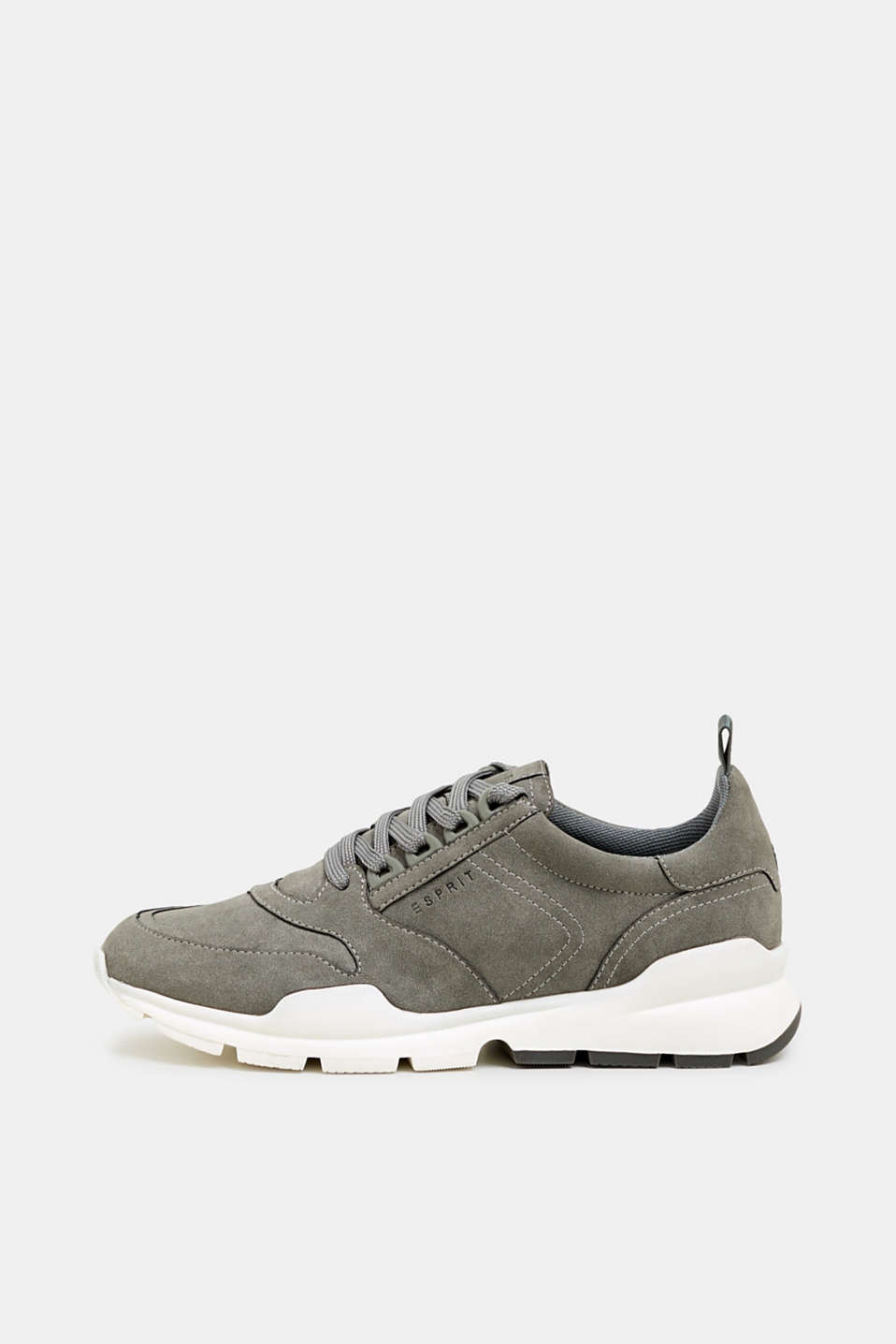 Faux nubuck trainers, GREY, detail image number 0