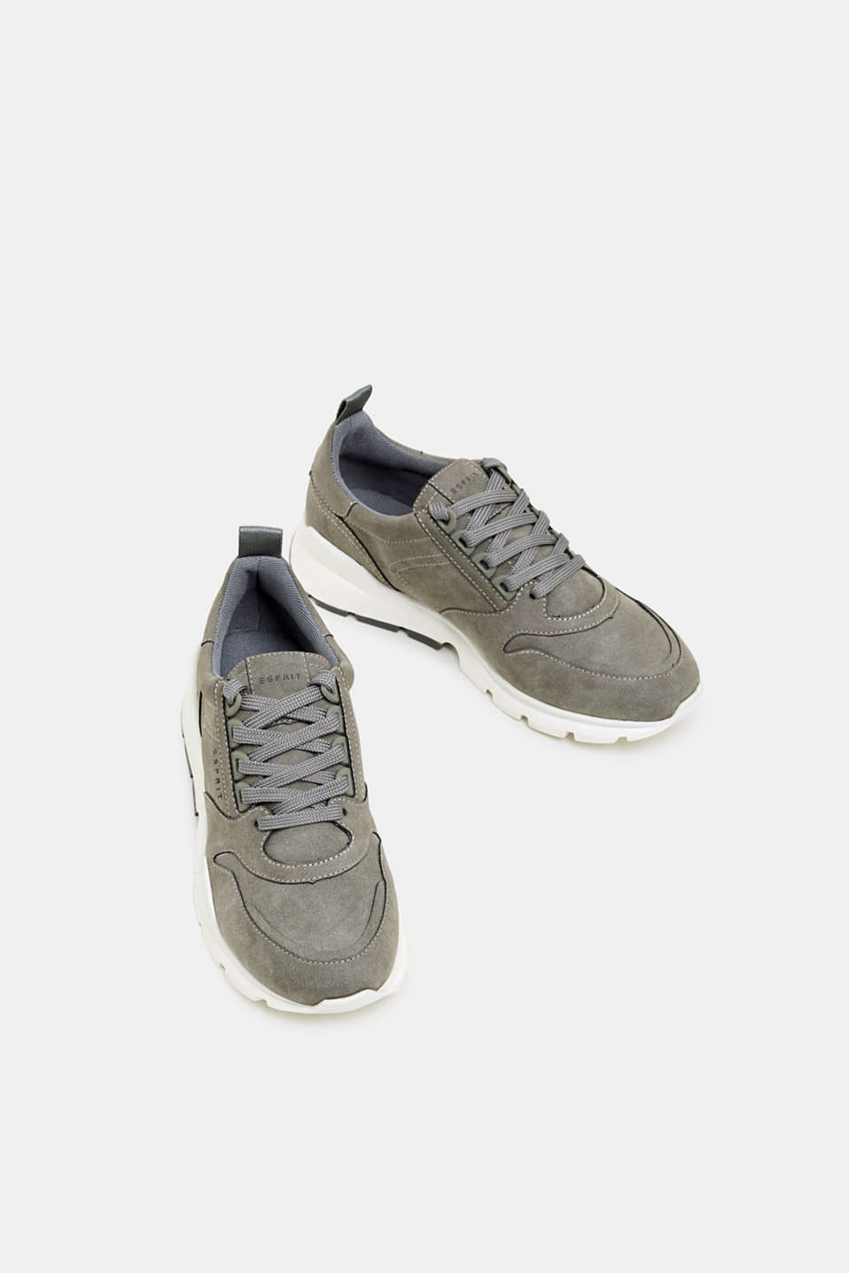 Faux nubuck trainers, GREY, detail image number 1