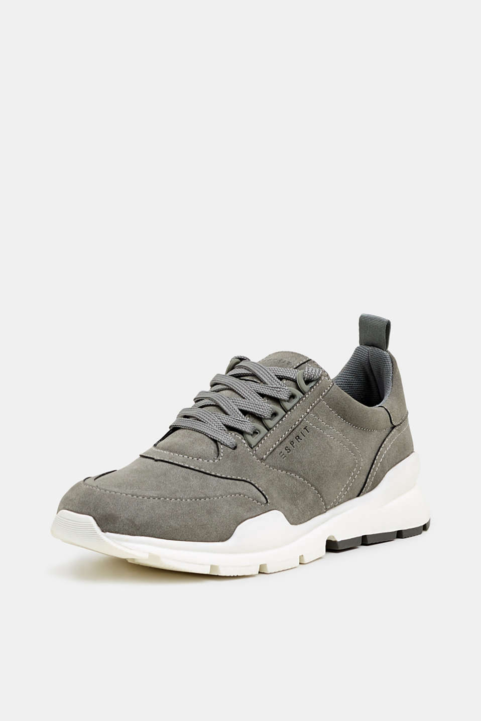 Faux nubuck trainers, GREY, detail image number 2