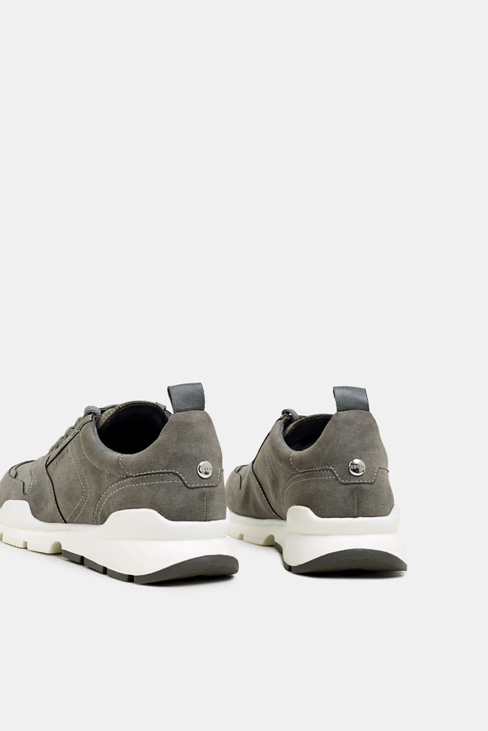 Faux nubuck trainers, GREY, detail image number 5