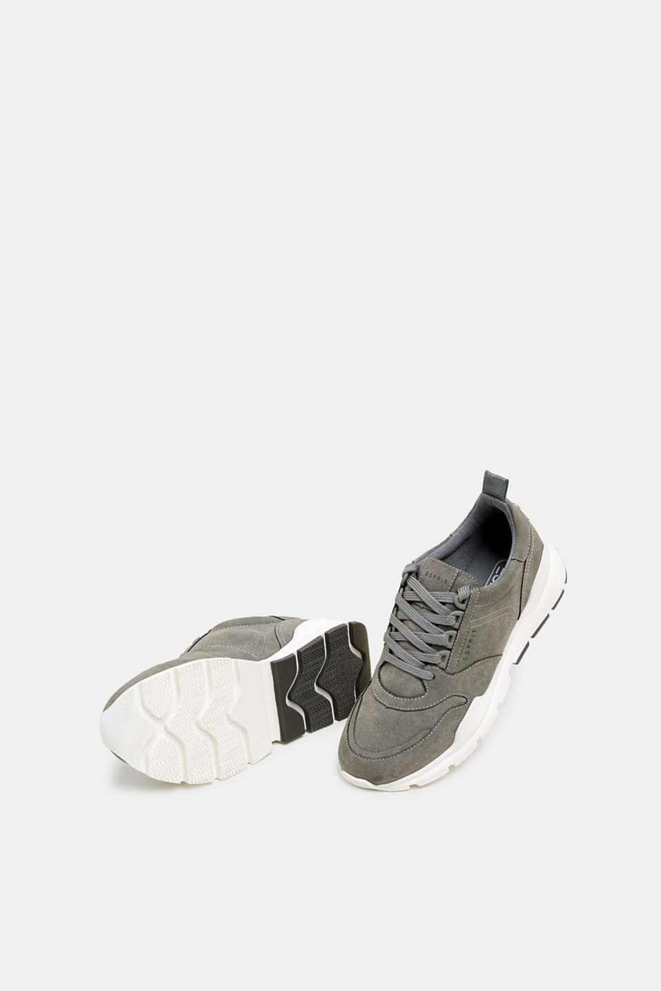 Faux nubuck trainers, GREY, detail image number 6