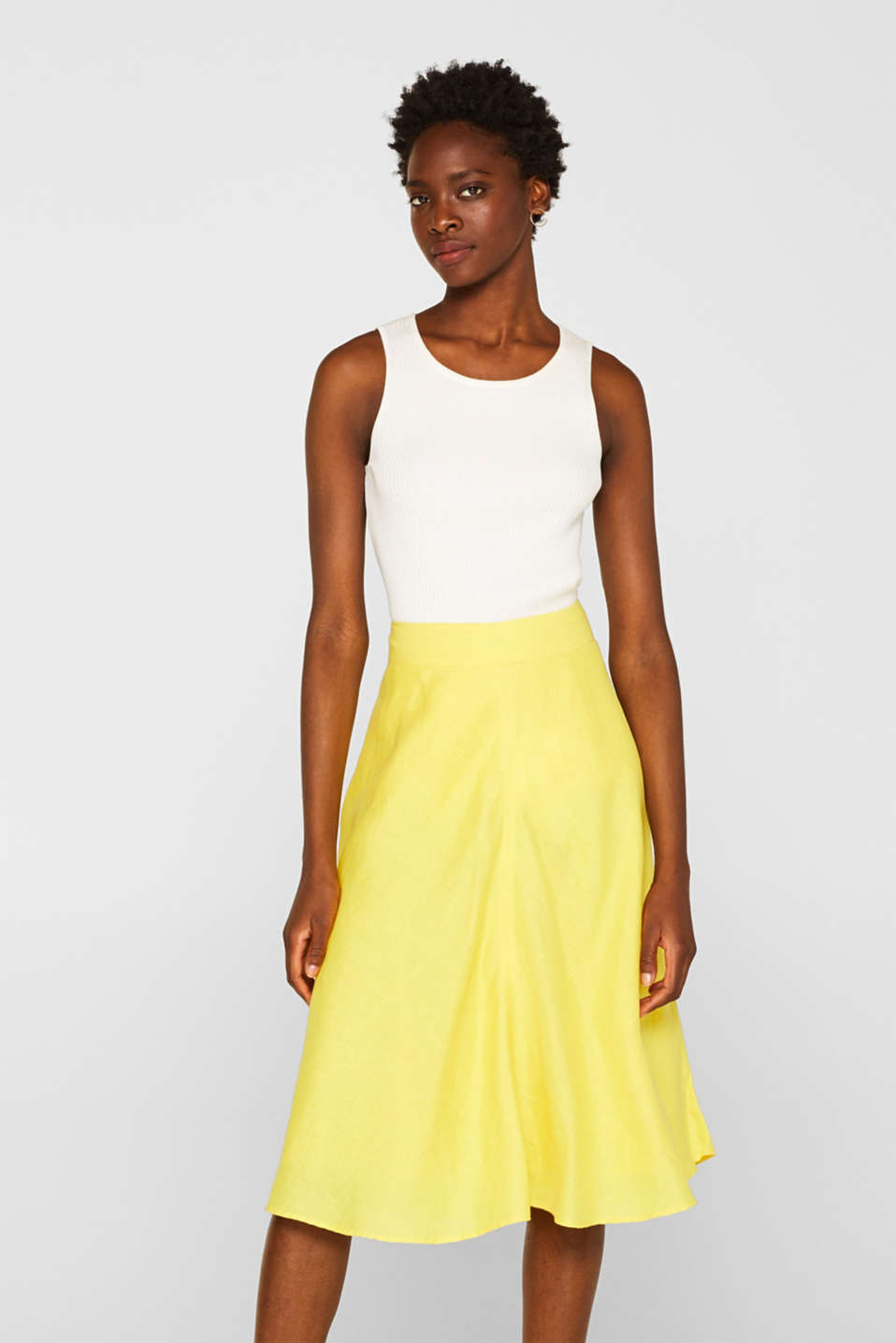 Skirts light woven, BRIGHT YELLOW, detail image number 0