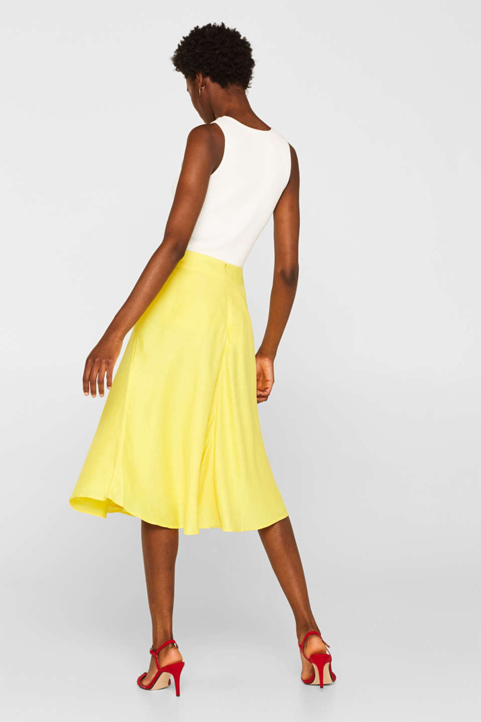 Skirts light woven, BRIGHT YELLOW, detail image number 3