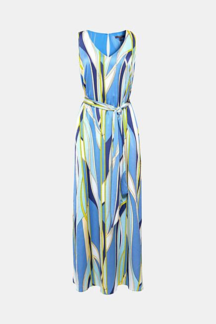 afe721e24d2c Maxi šaty ze saténu s psychedelickým potiskem · Modrá