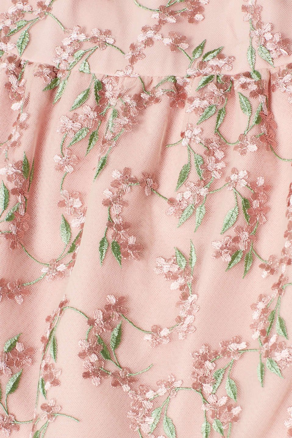 Cocktail dress in embroidered tulle, OLD PINK, detail image number 4
