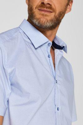 Short sleeve shirt with polka dot print, 100% cotton