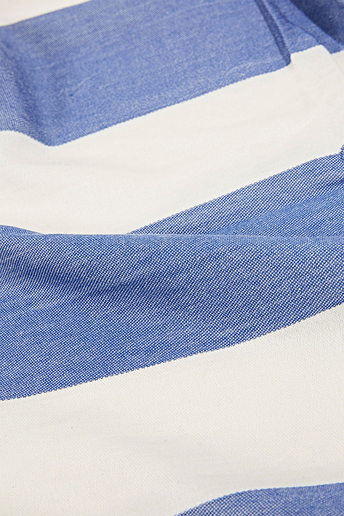 Woven scarf with stripes, BRIGHT BLUE, detail image number 2