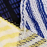 Scarf with a geometric tribal print, NAVY, swatch