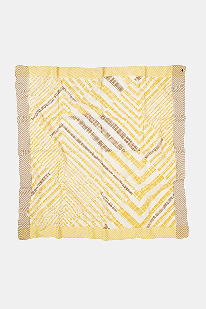 Scarf with a geometric tribal print, YELLOW, detail image number 3