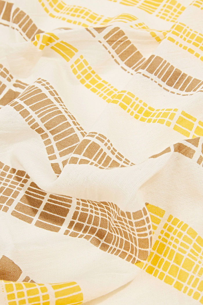 Scarf with a geometric tribal print, YELLOW, detail image number 2