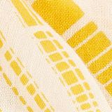 Scarf with a geometric tribal print, YELLOW, swatch