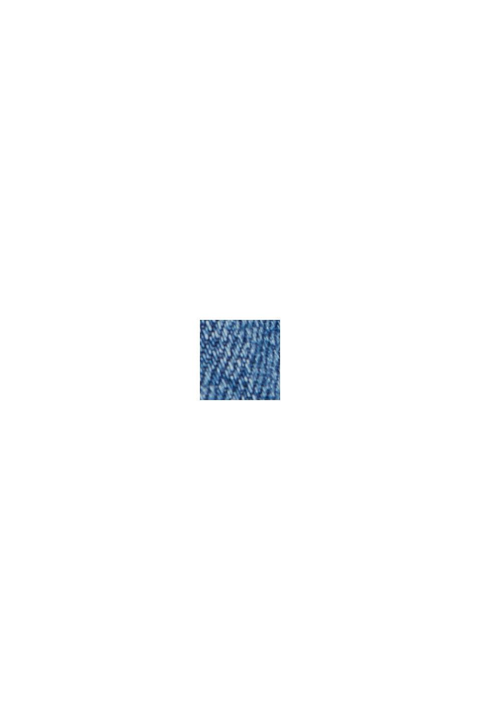 Vaqueros de cintura alta y largo 7/8, 100% algodón, BLUE MEDIUM WASHED, swatch