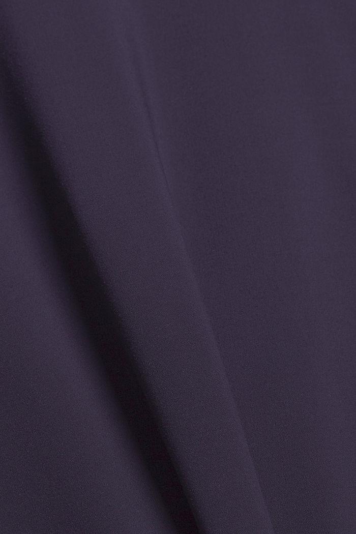 Knoten-Bluse aus LENZING™ ECOVERO™, NAVY, detail image number 4