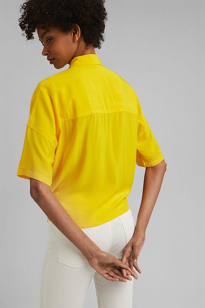 Knoten-Bluse aus LENZING™ ECOVERO™, YELLOW, detail image number 3