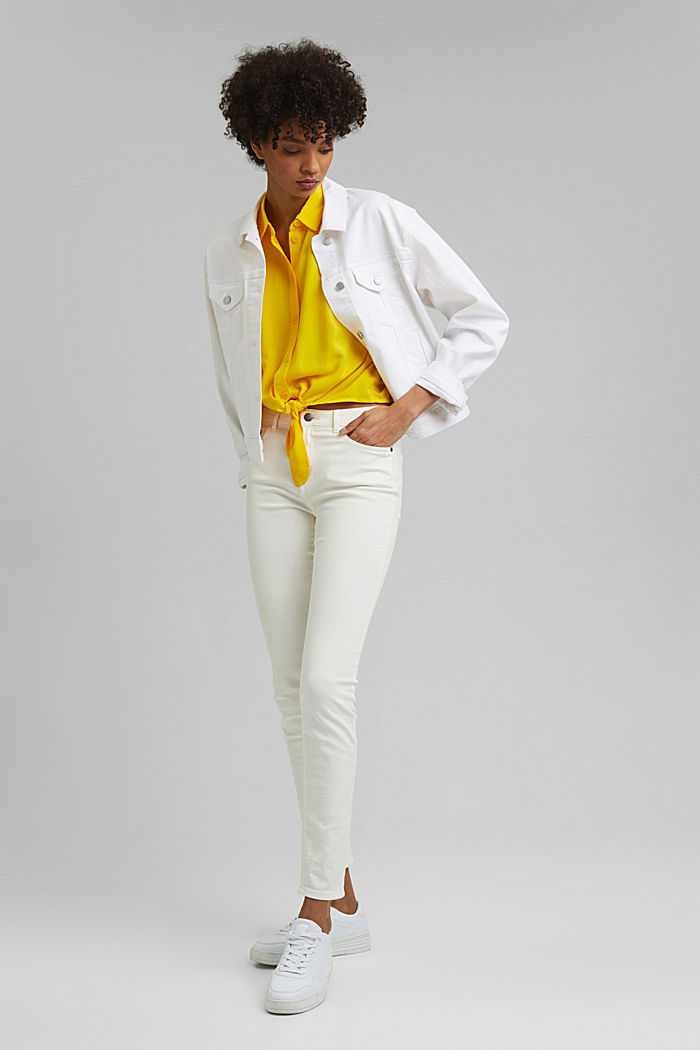 Knoten-Bluse aus LENZING™ ECOVERO™, YELLOW, detail image number 1