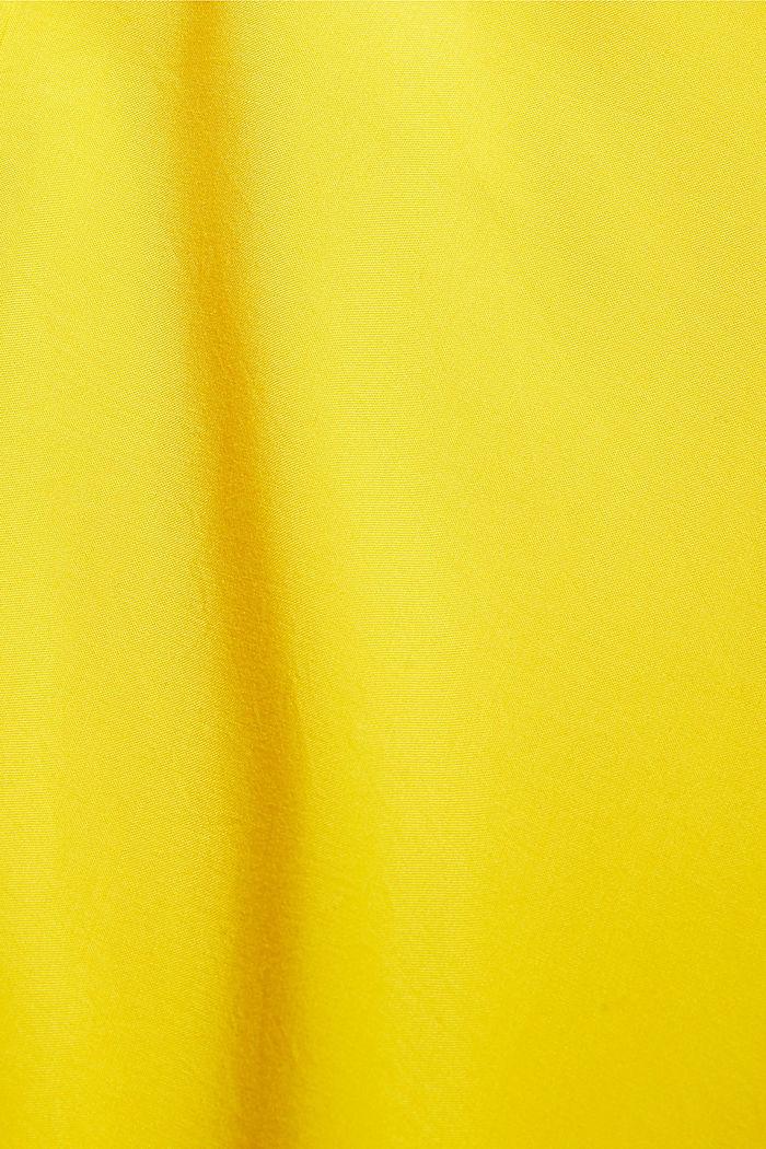 Knoten-Bluse aus LENZING™ ECOVERO™, YELLOW, detail image number 4